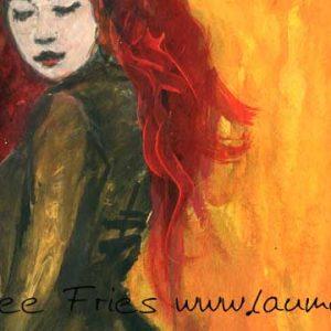 Tuschezeichnung Abendrot von Laumee Fries Detail
