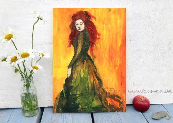 Kunstdruck auf Holz Abendrot von Laumee