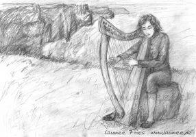 Laumee- Illustration Carolans Harfe