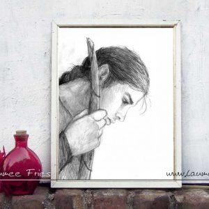 Elf. Zeichnung von Laumee - Kunstdruck