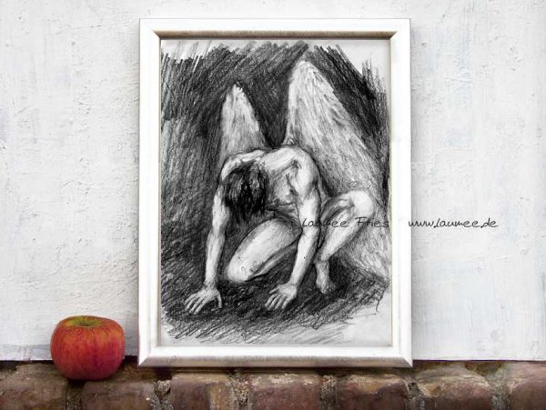Kunstdruck Engel von Laumee