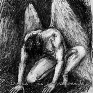 Zeichnung Engel von Laumee Fries