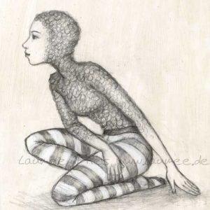 Zeichnung Fishsuit von Laumee