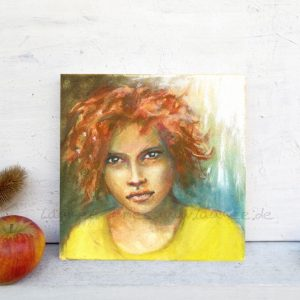 Holzbild-Girl Laumee