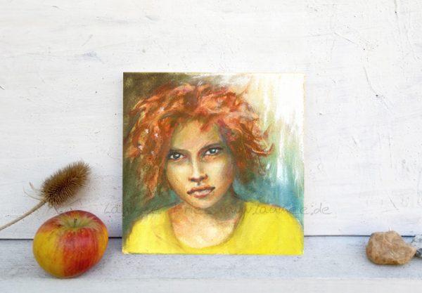 Holzbild-Girl von Laumee