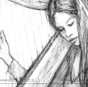 Laumee: Harfe Detail