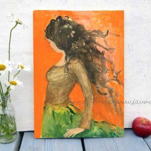 Holzbild Aphrodite von Laumee