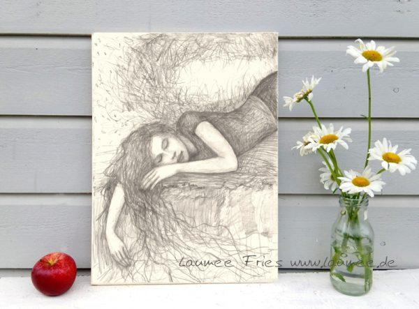 Kunstdruck auf Holz von Laumee: Dream