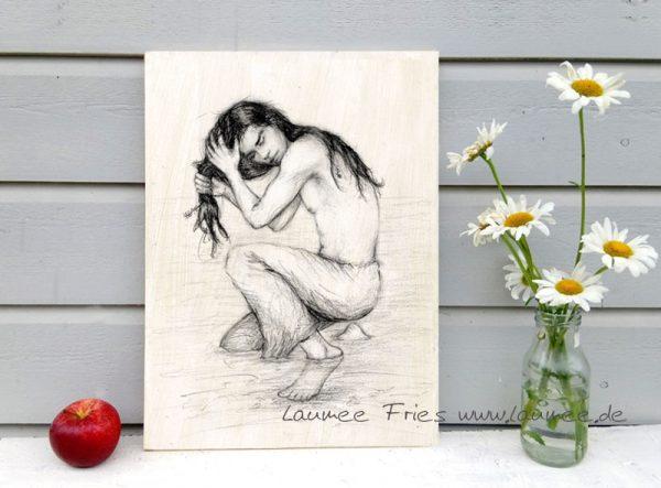 Holzbild Kelpie von Laumee