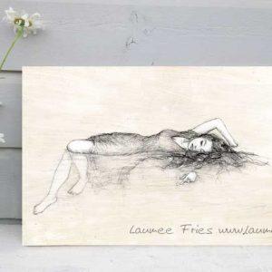 Holzbild Meerjungfrau Laumee