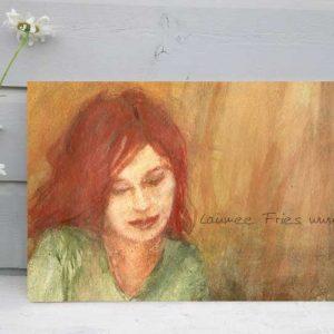 Holzbild Rotes Haar von Laumee