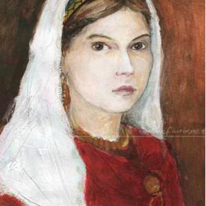 Judith von Flandern - Malerei von Laumee Fries