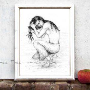 Kunstdruck Kelpie von Laumee Fries
