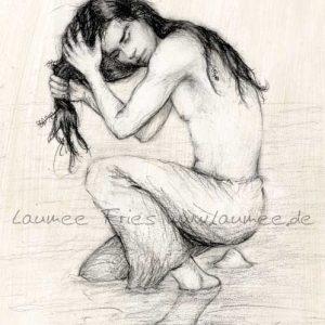 Zeichnung Kelpie von Laumee