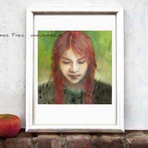 Kunstdruck Braids von Laumee Fries