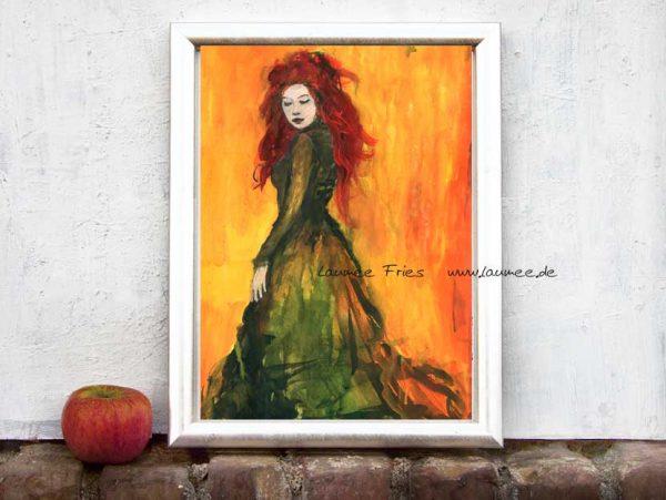 Kunstdruck Orangerot von Laumee