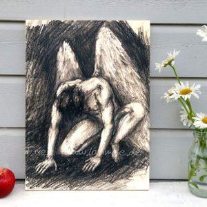 Laumee Fries Dantes Engel Bild auf Holz