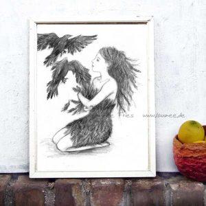 Kunstdruck von Laumee Federkleid