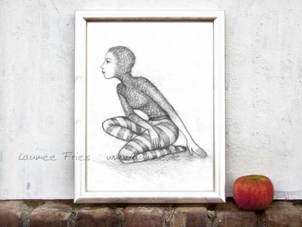 Kunstdruck Fishsuit von Laumee