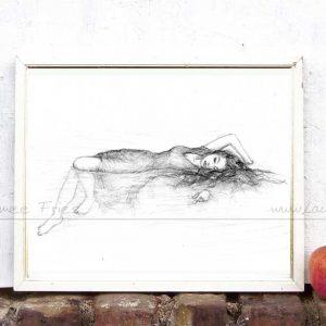 Kunstdruck Meerjungfrau von Laumee