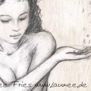 Laumee Kunstdruck auf Holz Water Detail