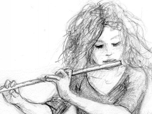 Zeichnungen von Laumee: Musik