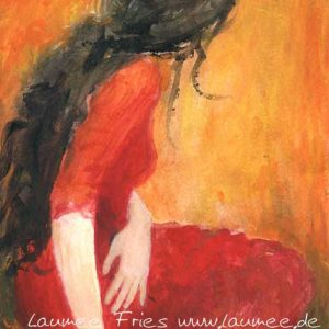 Laumee Fries Persephone Tuschemalerei