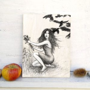 Die sieben Raben - Zeichnung von Laumee Fries