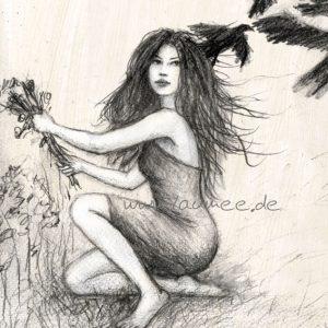 Laumee Fries - Zeichnung: Die sieben raben