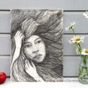 Kunstdruck auf Holz Storm von Laumee