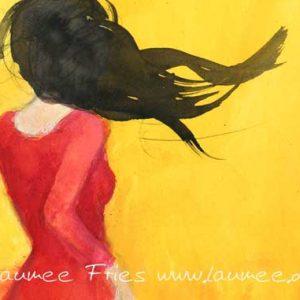 Tanzende von Laumee mit schwarzem Haar Detail