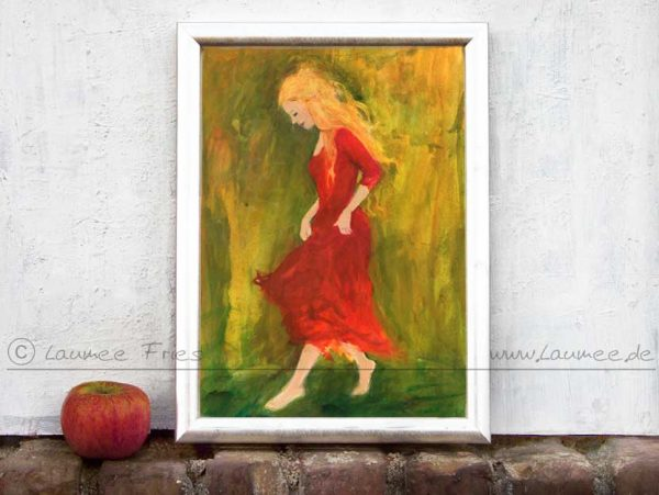 www.laumee.de - Tanzende mit rotem Kleid