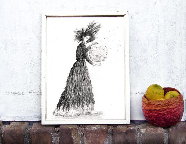 Kunstdruck Witch - Laumee