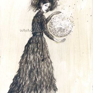 Laumee Fries - märchenhafte Zeichnung Witch